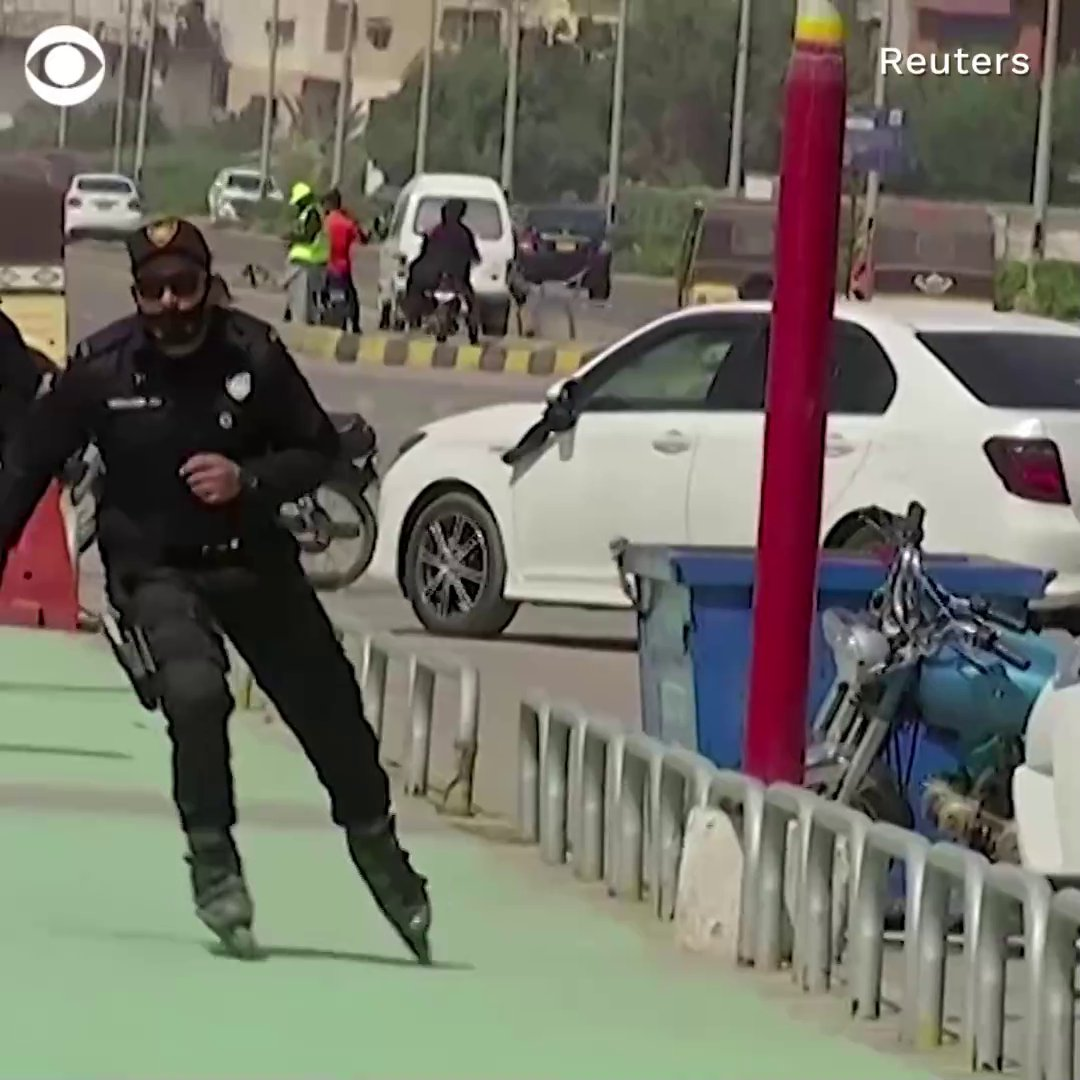 WATCH: Police in Karachi, Pakistan are training an armed rollerblading unit to better prevent theft and harassment on its streets.