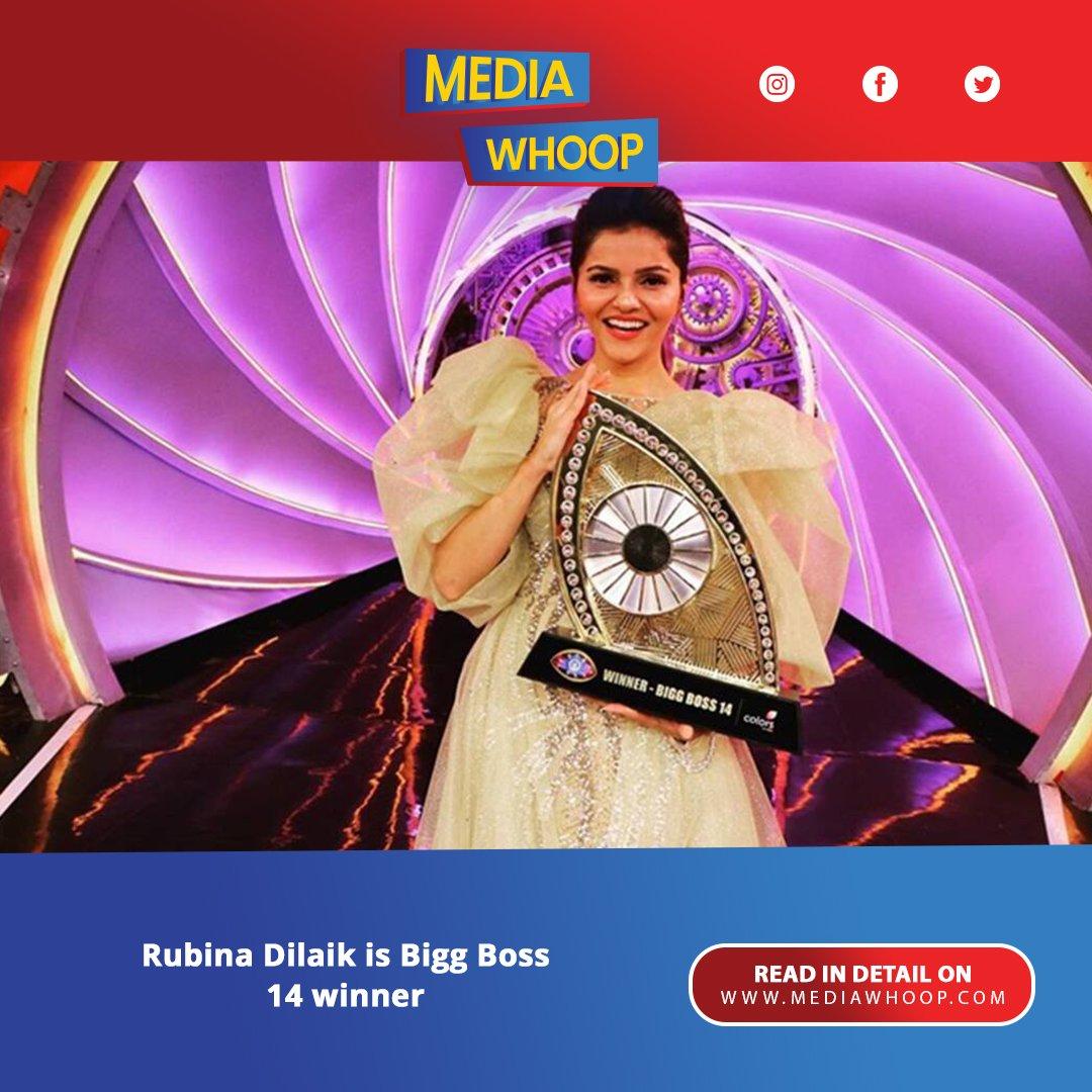 Rubina Dilaik! The actress won the 14 seasons of the popular TV reality show Bigg Boss. Read more:  https://t.co/sme29e22AZ  #bigboss14winnerrubinadilaik  #bigboss14winnerrubina  #bigboss14winner #rubinadilak https://t.co/mcwYLS7WnK