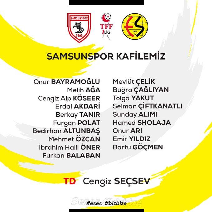 İşte Eskişehirspor'un Samsunspor kafilesi