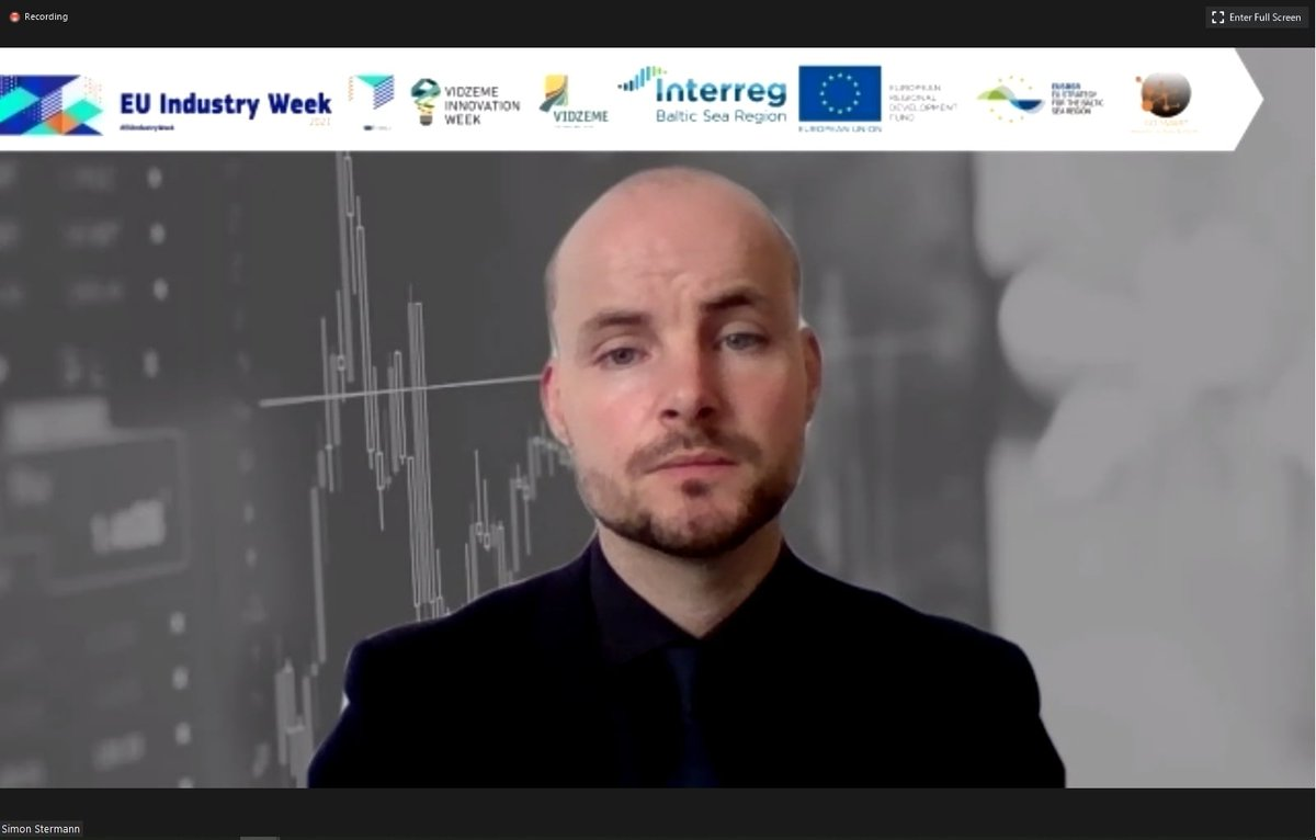 Happening NOW: a session by #Interreg #GoSmartBSR in the framework of #EUIndustryWeek 2021: Click and join to listen in ⬇⬇⬇  #smartspecialisation #innovation #MadeWithInterreg