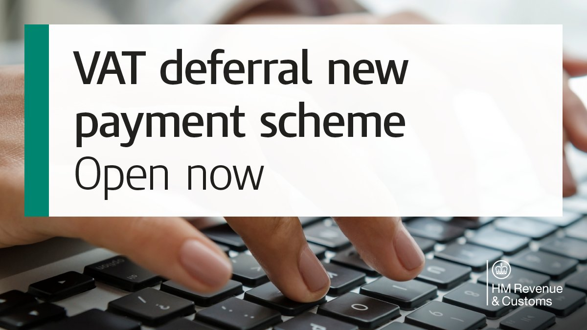 The VAT deferral new payment scheme opens today. The new scheme lets you pay deferred VAT payments due in interest free instalments. The earlier you join, the more months you can spread your payments across. Find out more here. 👇