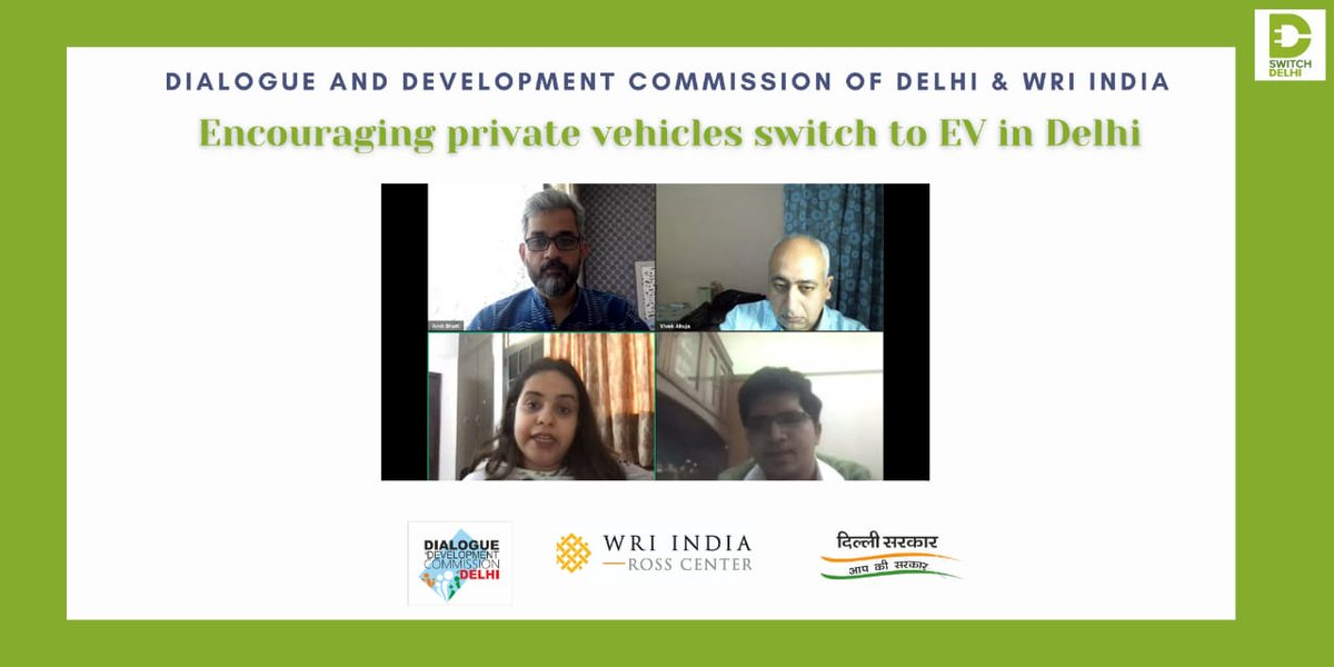 """Our second panel on How Youth Can Drive the EV Movement in Delhi   """"More campaigns like 'Switch Delhi' are required to make people aware, bridge the knowledge gap and remove their apprehensions for switching to an EV""""  Niharika Maggo, panelist, Let Me Breathe #switchDelhi"""