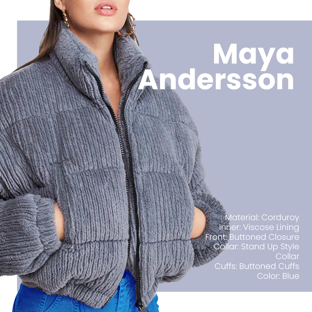 Add Some Texture To Your Life Maya Andersson's Corduroy Jacket is a perfect Jacket for your Friday night look. 🔥 Wear It and be the Spring Queen.👑   #womenempowerment #womenswear #FridayThoughts #party #branded #fashion #style #WomenInSTEM #designthinking