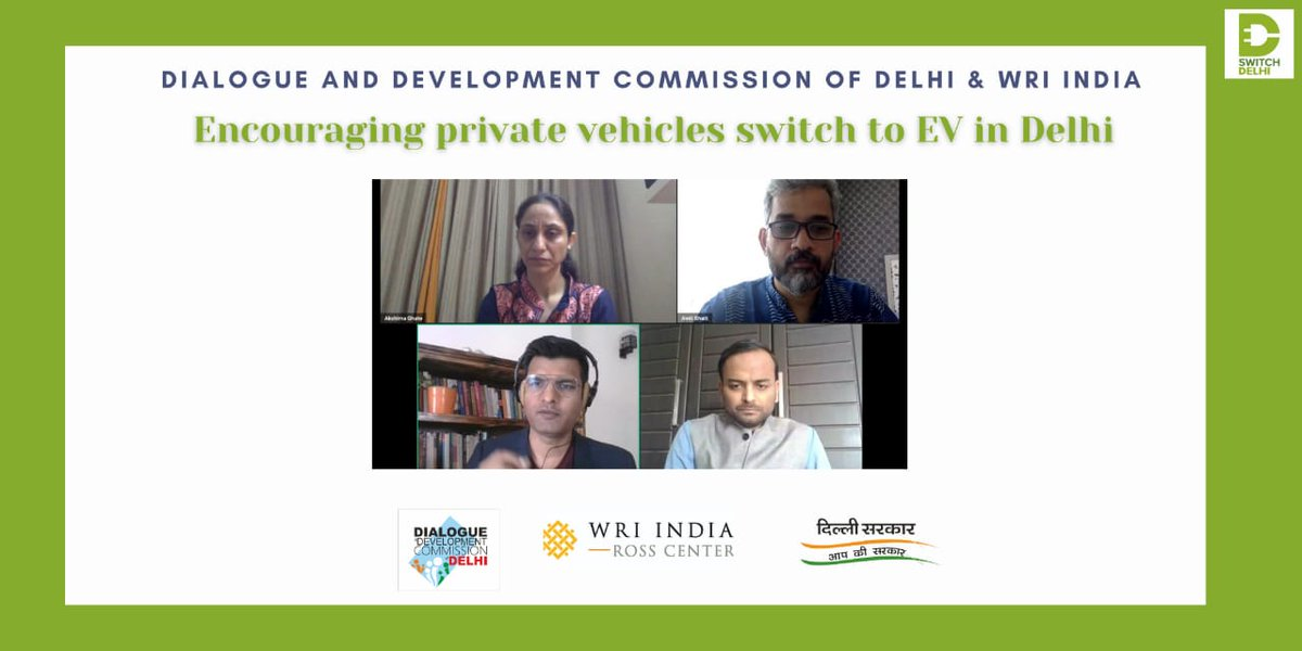 The webinar organized by @WRIIndia and @DDC_Delhi on Encouraging Private Vehicles switch to #EV is now live with our esteemed panelists!  Join in now to get insights on EV transition from the best in the industry and get your questions answered!