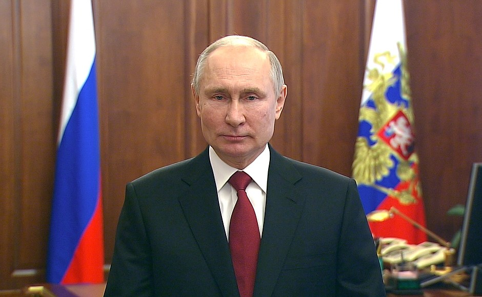 #DefenderOfTheFatherlandDay. Greetings from Vladimir Putin: