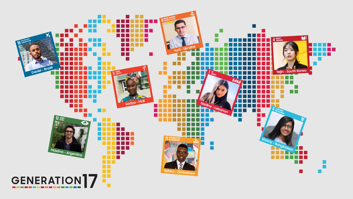 Meet the next group of #Generation17 young leaders who are dedicated to innovating for the #GlobalGoals with @UNDP: @CalarcoDaniel, @NadineKhaouli, Yejin Choi, and Yurii Romashko.  To get involved: #SamsungGlobalGoals app and