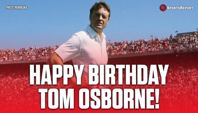 Fans, let\s wish LEGEND Coach Tom Osborne a Happy Birthday!