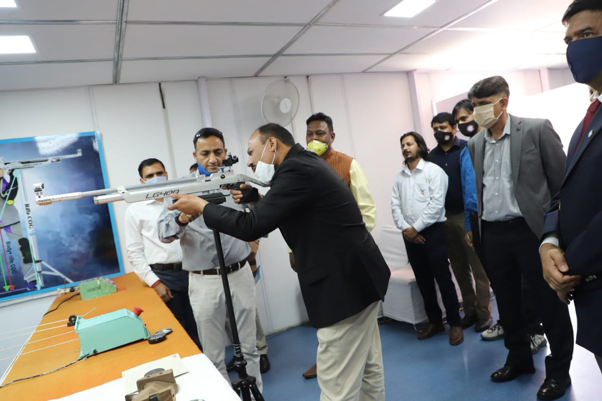 Sh K S Bhandari Director/ ADG #CRPF Academy inaugurated the 1st Zonal Para Shooting Championship 2021 today at CRPF Shooting Range Gurugram. He emphasised that the human spirit is one of ability, perseverance and courage that no disability can steal away.