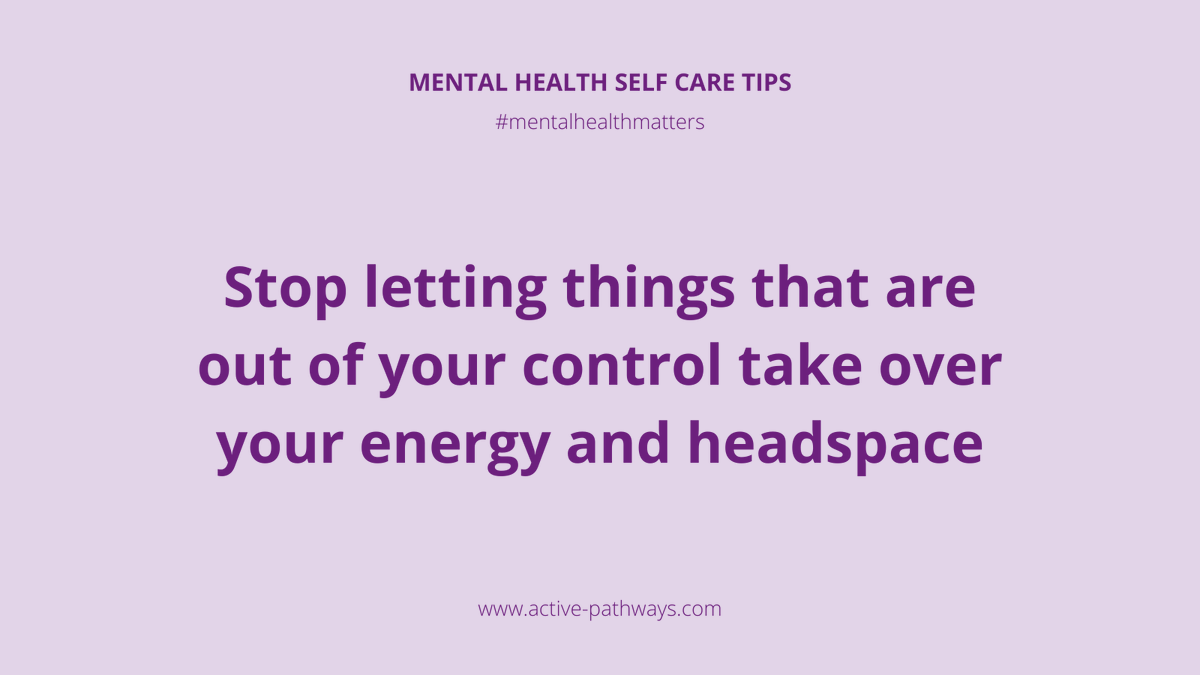Stop letting things that are out of your control take over your energy and headspace #occupationaltherapy #rehabilitation #rehab #mentalhealth #mentalhealthmatters #mentalhealthadvocate #dailymotivation #mentalhealthrecovery #keyworkers #recovery