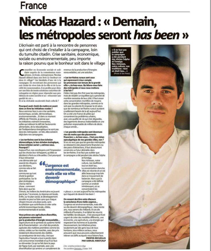 Mon interview dans Var Matin >> Le Bonheur est dans le Village 🚜💚 @Ed_Flammarion @inco_group