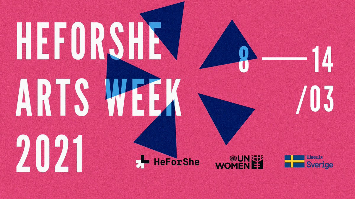 SAVE THE DATE: #HeForShe movement in Ukraine is delighted to announce the HeForShe Arts Week 2021 on March 8-14. This year, more than 20 events, and the annual Women in Arts Award to celebrate Ukrainian female artists. This year motto - #inner_fire_to_inspire @HeForShe