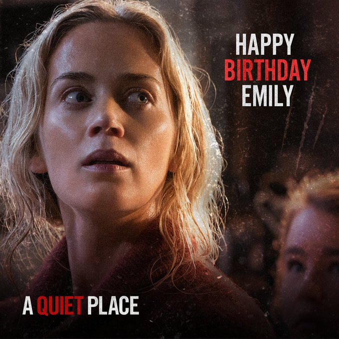 Happy Birthday Emily Blunt! Best to keep the celebrations quiet...