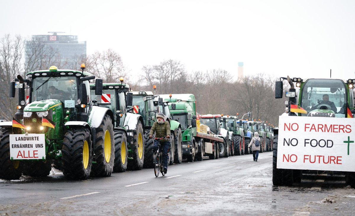 There's a #FarmersProtest happening in Germany.  But the German Govt didn't block their path with barbed wires, dig highways or label them Anti-National. And neither did the Govt declare it an 'internal matter' where others can't comment. I guess that's how democracies work.