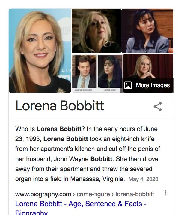 "Do people STILL ask @laurenboebert  ""Are you THAT #LorenaBobbitt?"