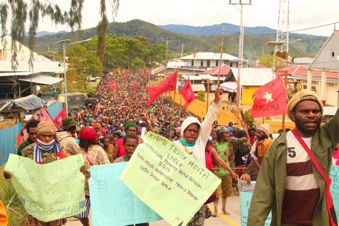 Unabhängigkeits- Referendum in West-Papua  Dogiyai, West Papua Soll Nicht geteilt werden.