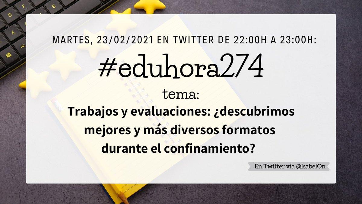 Perdón, súper tarde #eduhora274  En mi opinión aún hay mucho por hacer en este asunto. Sí hay profes que han buscado otras maneras de evaluar ante alumnos que en el confinamiento copiaban en exámenes pero aún queda mucho por hacer
