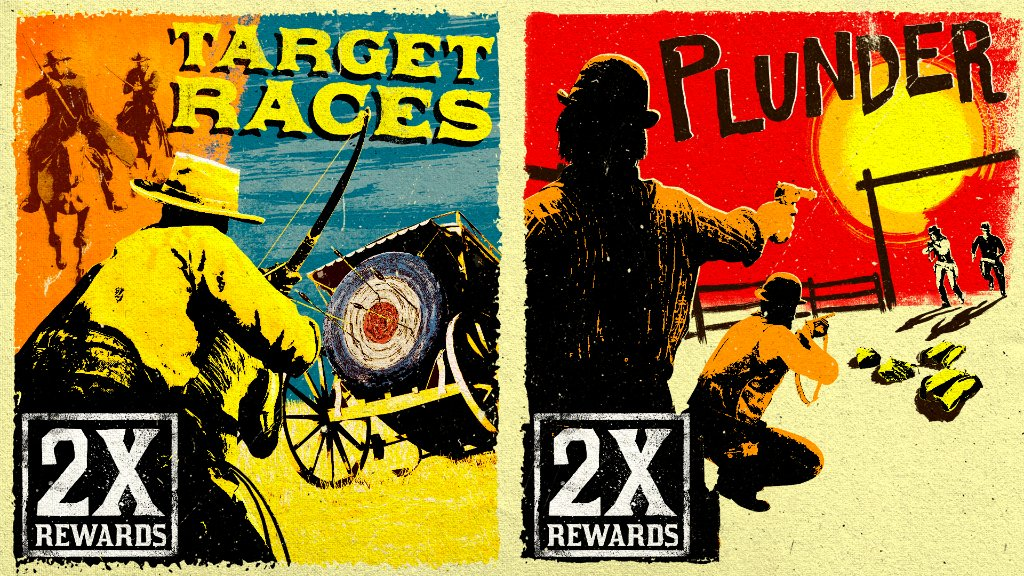 Test your mettle and your aim in the Featured Series with Target Races, Open Target Races, and Plunder.  Plus bonuses for Moonshiners, and more this week in Red Dead Online: