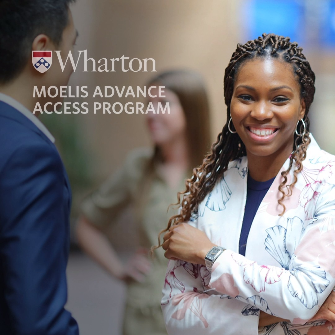 ⏰ Reminder: The deadline for undergrad/master's students to apply for the Moelis Advance Access Program is one month from today!  Continue or start an application for our deferred admission program to guarantee your pathway to a #WhartonMBA: