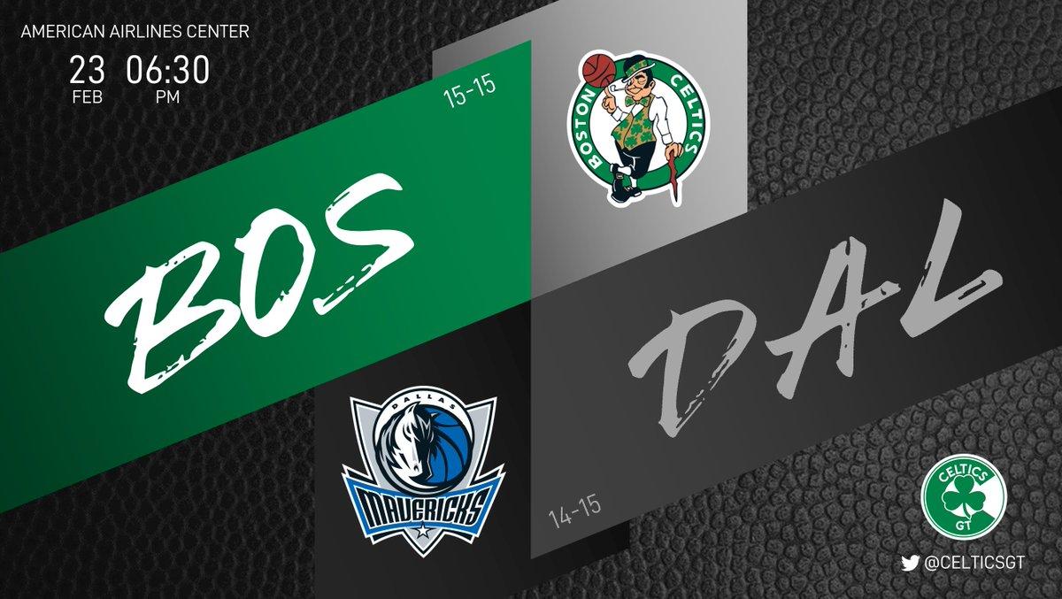 Hoy se enfrentan dos equipos de los que se esperaba mucho más al inicio de temporada. Por suerte, los Celtics están en el Este así que aún en territorio de playoffs.  ☘ Celtics (15-15) 🐴 Mavericks (14-15) ⏰ 06:30PM  #WholeNewGame #Celtics https://t.co/DELSjyh53Y