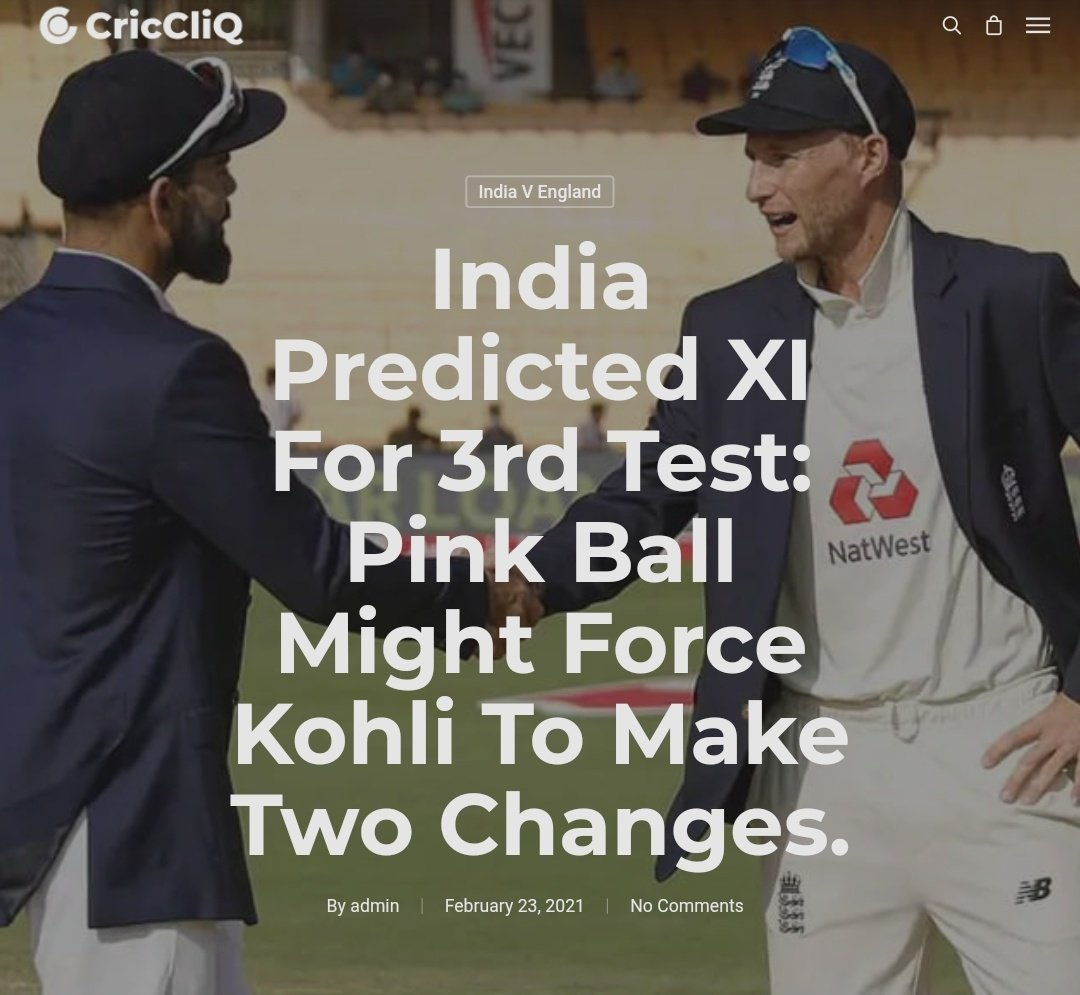 India Predicted XI For 3rd Test : Pink Ball Might Force Kohli to make two changes.  #INDvsENG_2021 #INDvsENG Read preview 👇