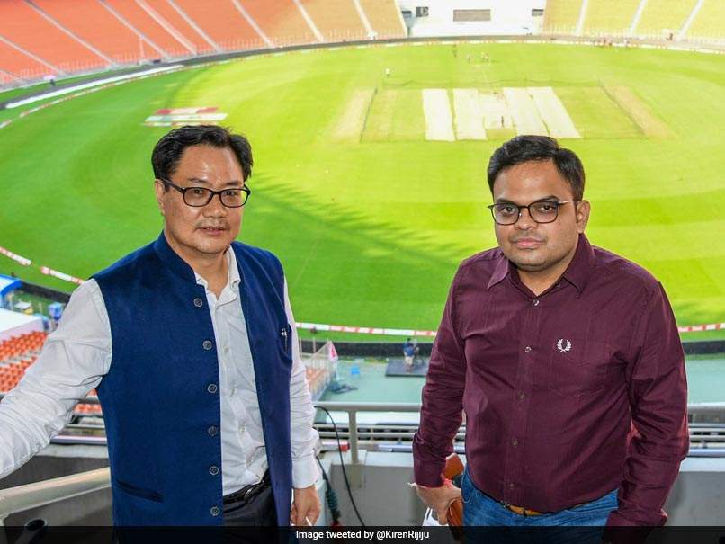 India vs England: Kiren Rijiju And Jay Shah Visit Mesmerising Hall Of Fame Zone At Motera Stadium Photo