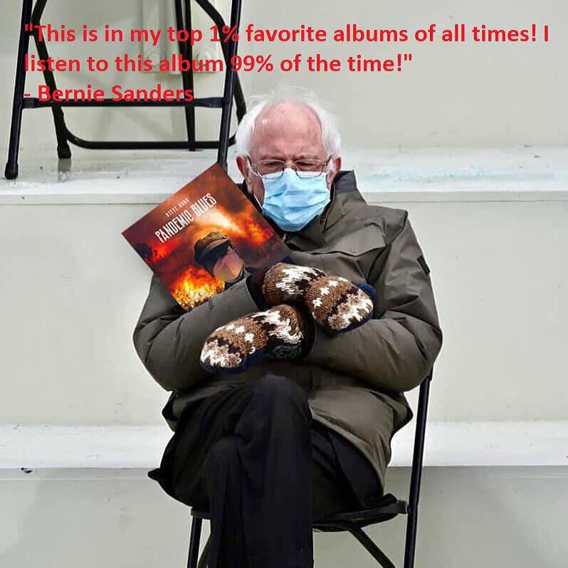 "Bernie has my new album ""Pandemic Blues."" Do you?    #berniemittens #berniemittensmemes #pandemicblues #newalbum #newalbum2021 #newbluesmusic #newbluesalbum #bluesalbum #newmusic2021"