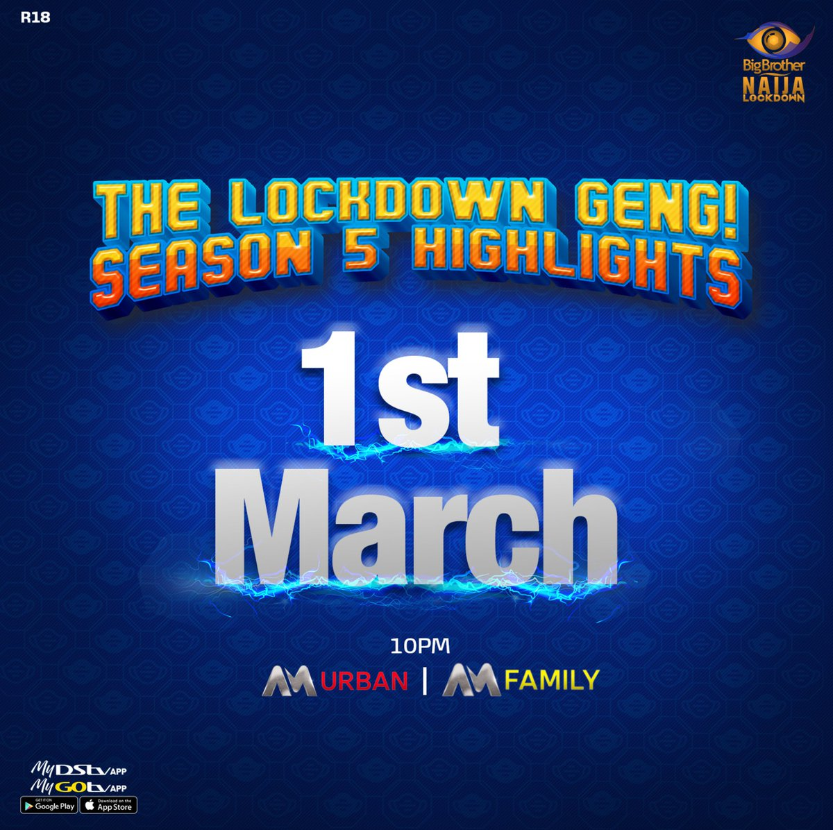 While we anticipate the Reunion, let's relive the hottest moments from the #BBNaija Lockdown season, shall we? 🔥🥵  Set your calendars for #BBNaijaHighlights on the 1st of March on @DStvNg AM Urban and Family at 22:00 WAT.