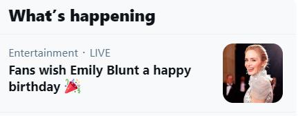 Happy Birthday Emily Blunt!