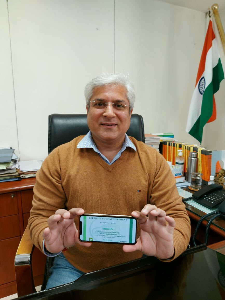 I took the @SwitchDelhi Pledge and today, I commit to make a conscious choice to contribute to a pollution free Delhi.  Delhiites, take your Pledge now at , share it with your friends and be a part of Delhi's journey to becoming EV Capital of India.