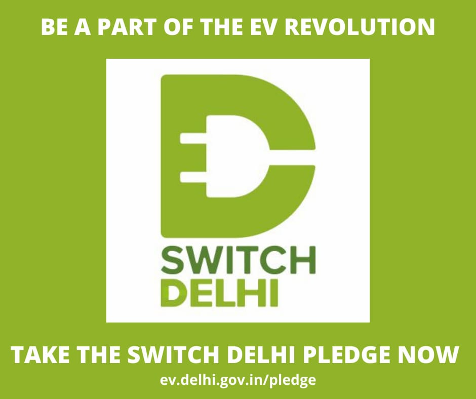Hon'ble Minister of Transport, Sh. @kgahlot ji launched the Switch Delhi Pledge campaign today. Delhites, take the @SwitchDelhi pledge at  now if you pledge to switch to an EV/install a charging point in the next 3 years! Share it with friends and family!