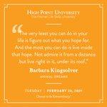 [CALENDAR] #DailyMotivation from Barbara Kingsolver. #HPU365