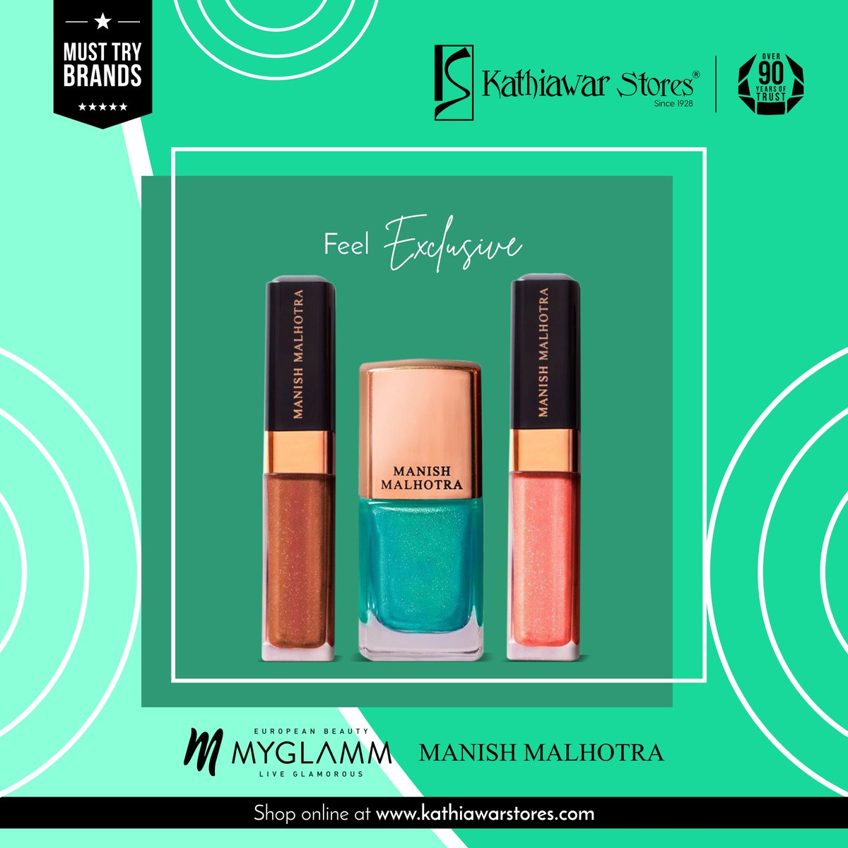 Shop for the exclusive range of products by Manish Malhotra from MyGlamm. From Skincare to Makeup, you'll find all.      #Kathiawar #KathiawarStores #LatestTrends #Fashion #Beauty #Branded #BeautyCare #BeautyTips #BeautySecrets #Cosmetics #beauty #shopping