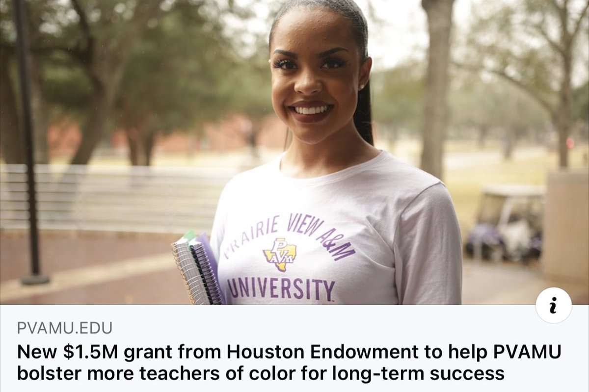 #PVAMU is preparing more teachers of color for Texas classrooms with the help of the new $1.5MM grant from the Houston Endowment. #WeTeachTexas