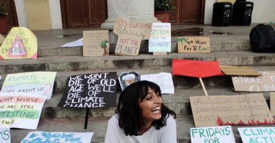 'No reason to keep #DishaRavi in custody' that's what the court has said. A brave, young #ClimateActivist who protests peacefully. She has spent the last ten days in police custody. Let this sink in.