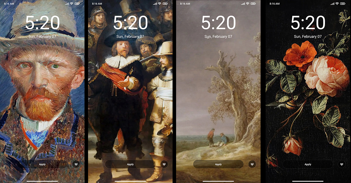 Pssst, we just added a few wallpapers you might like. Explore the work of Van Gogh in the #miui Themes app. A new series of #Rijksmuseum limited wallpapers is available for download now!