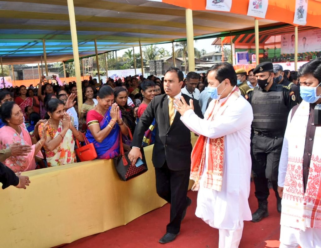Empowered Assam through Women Empowerment. Glad to attend the Mahila Samaroh 2021 in historic Sonitpur amidst an environment of great enthusiasm and celebration.