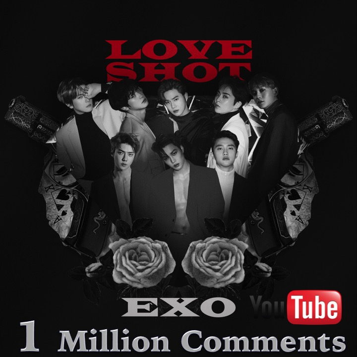 #EXO's #LoveShot MV has now 1,000,000 comments on YouTube, becoming their 4th MV and 5th with #SM! EXO joins #BTS as the only Male Artists Worldwide & Kpop Male Artists to have over 4 MVs with 1M comments on YouTube!💪4️⃣➕🎥💥1️⃣Ⓜ️👑👑👑👑👑👑👑👑👑💚