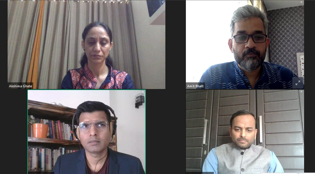 .@DDC_Delhi & @WRIIndia conducted their 1st webinar on making the switch to #EV under the #SwitchDelhi campaign. @amitbhatt4u moderated the panel discussion conducted during the webinar & discussed the challenges in accelerating EV adoption with panelists & EV ambassadors. (1/7)