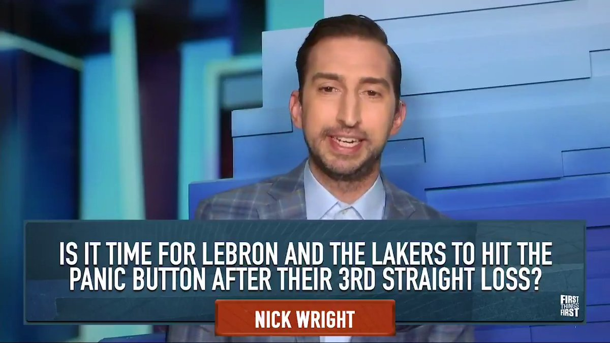"""Oh, the annual tradition: Is it time to panic about a LeBron James team right before the All-Star break? One more loss to the Wizards & they match the season total losses to the Wizards the Nets already have.""  — @getnickwright on why it's not time for the Lakers to the panic:"
