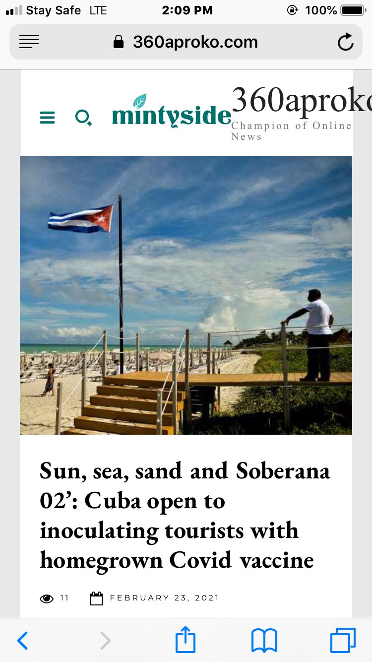 Sun, sea, sand and Soberana 02: Cuba open to inoculating tourists with homegrown Covid vaccine Photo
