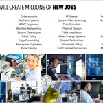 Image for the Tweet beginning: Millions of new high-quality jobs.