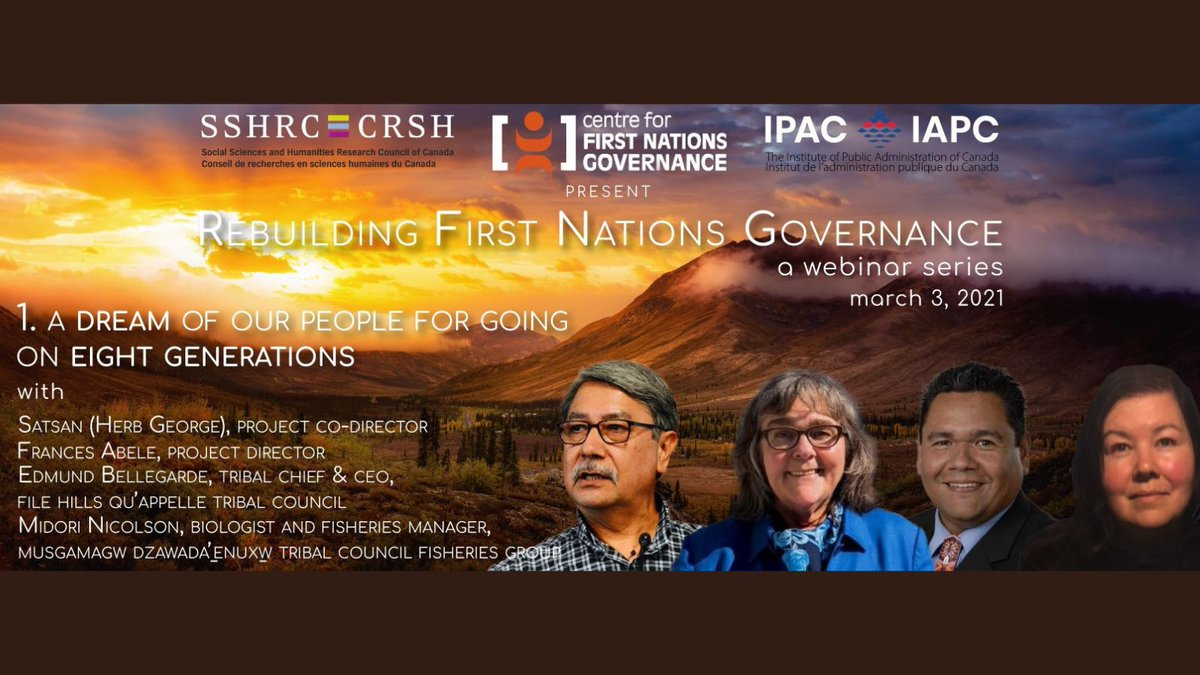 #Partner event! Join @IPAC_IAPC for their first of a new webinar series on reconciliation and rebuilding the nation-to-nation relationship as part of the Rebuilding First Nations Governance Project.  Date: March 3rd, 2021.  Time: 12:00pm-1:00pm  Register: https://t.co/bBQQwTckub