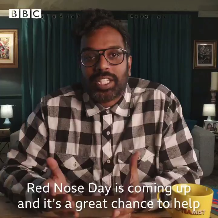 .@RomeshRanga wants you to put your funny self to good use for Red Nose Day 💪😂  Get involved at   Red Nose Day | Friday 19th March