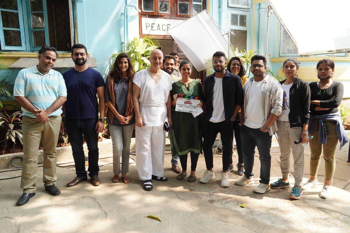 Young ...Energetic & Brilliant Team of🎈#HappyBirthday... #ItsAllWritten🎈 .. a well crafted #ShortFilm 🥳🎂💥🎊 Releasing soon @anupampkher @aahanakumra @prasad_kadam87 @gutgutiavikaas @girishjohar @ahmadfaraz111 @fnpmedia @mmirzaprabhu @Reallysumitk