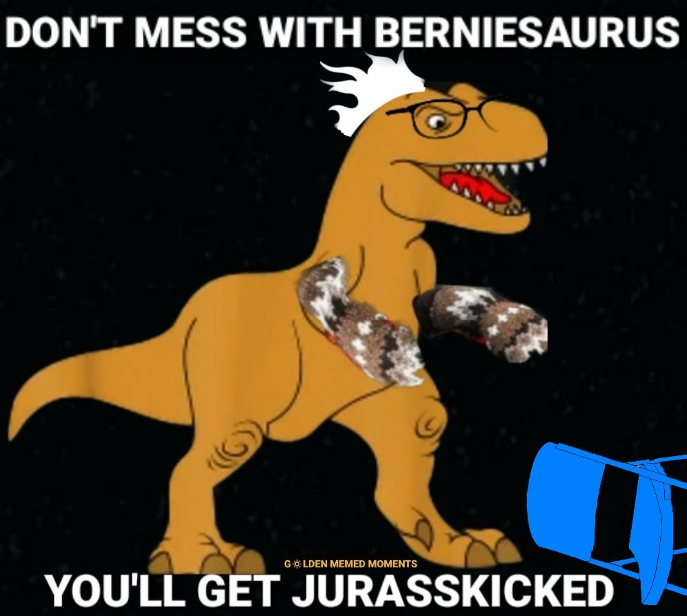 Gloves off, mittens on.   #BernieSanders  #BernieSandersMittens  #berniesmittens #jurassic