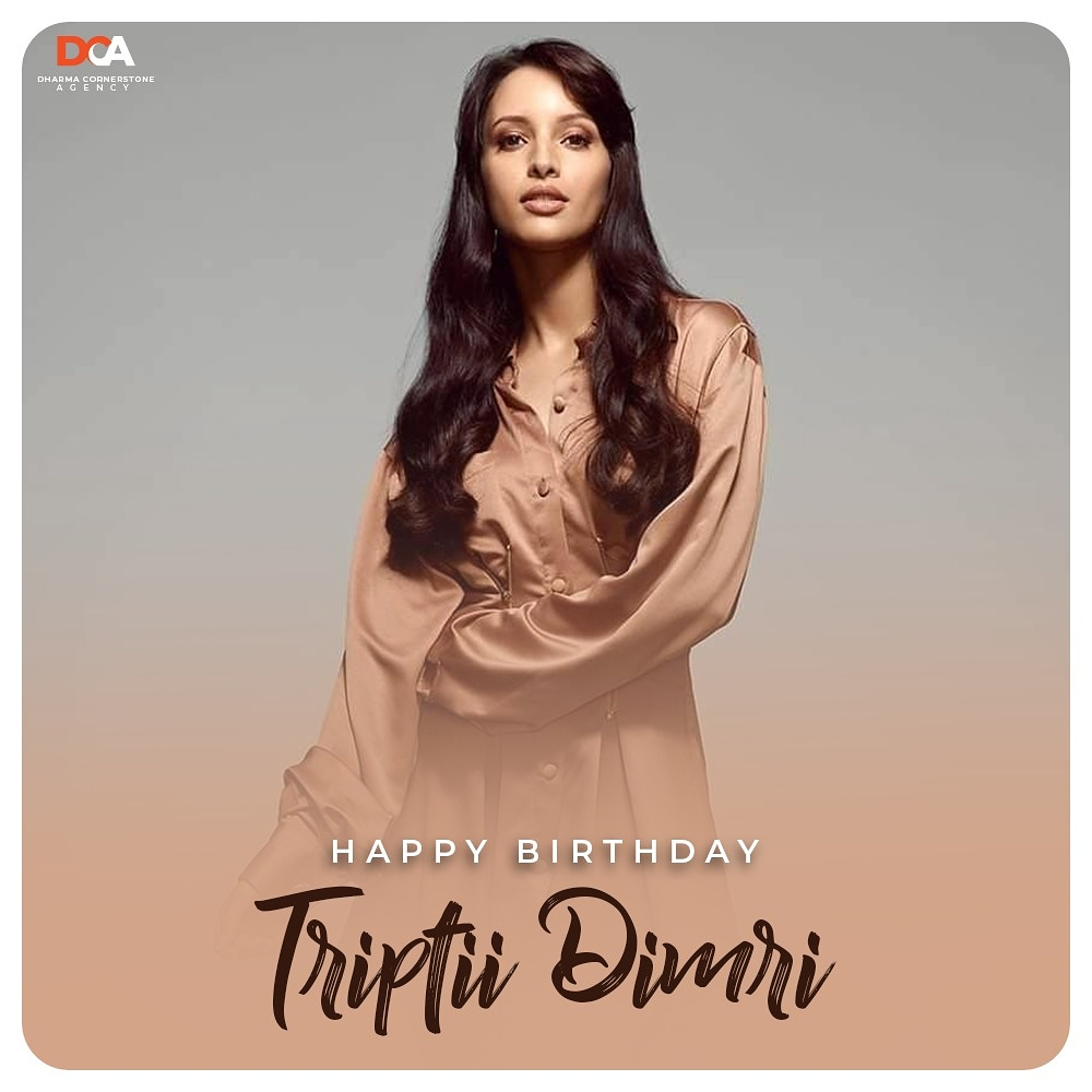 Wishing a very Happy Birthday to the beautiful and talented @tripti_dimri23 🎉🎂 . #DCASquad #DCA