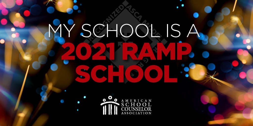 Exciting announcement! @EmeraldCoveMS has officially obtained @ASCAtweets RAMP designation for our #schoolcounselingprogram! What is #RAMP? Learn more: schoolcounselor.org/RAMP #RAMP21 @ECMS_Dr_Feaman @PBSCA1 @myFSCA