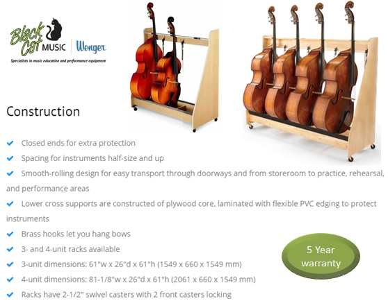 Wenger's wheeled stringed instrument racks are ideal for storing and transporting your precious stringed instruments.  Like all Wenger products, the stringed instrument racks are built to last and come with a 5-year warranty.  Available to buy online :   https://t.co/LYZ1D7IfAs https://t.co/mFy4guJn3L