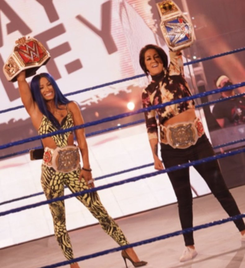 Day 54 of Bayley and Sasha Banks photos : To all fan bases of Sasha Banks and Bayley out there, show off your favorite photos (past present and future) of the greatest tag team in WWE! #TheCaptain #RoleModel #Blueprint #LegitBoss