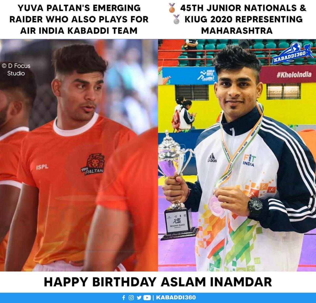 Wishing Maharashtra's young exciting talented raider Aslam Inamdar a very happy birthday 🎂  #AslamInamdar #MaharashtraKabaddi #HappyBirthday #Kabaddi360
